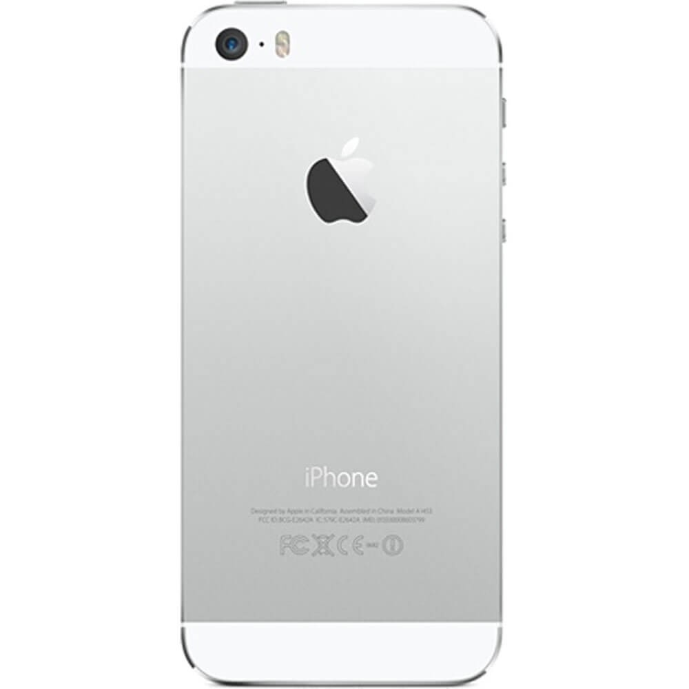 Apple iPhone 5S Argent 64G reconditionné - Dos