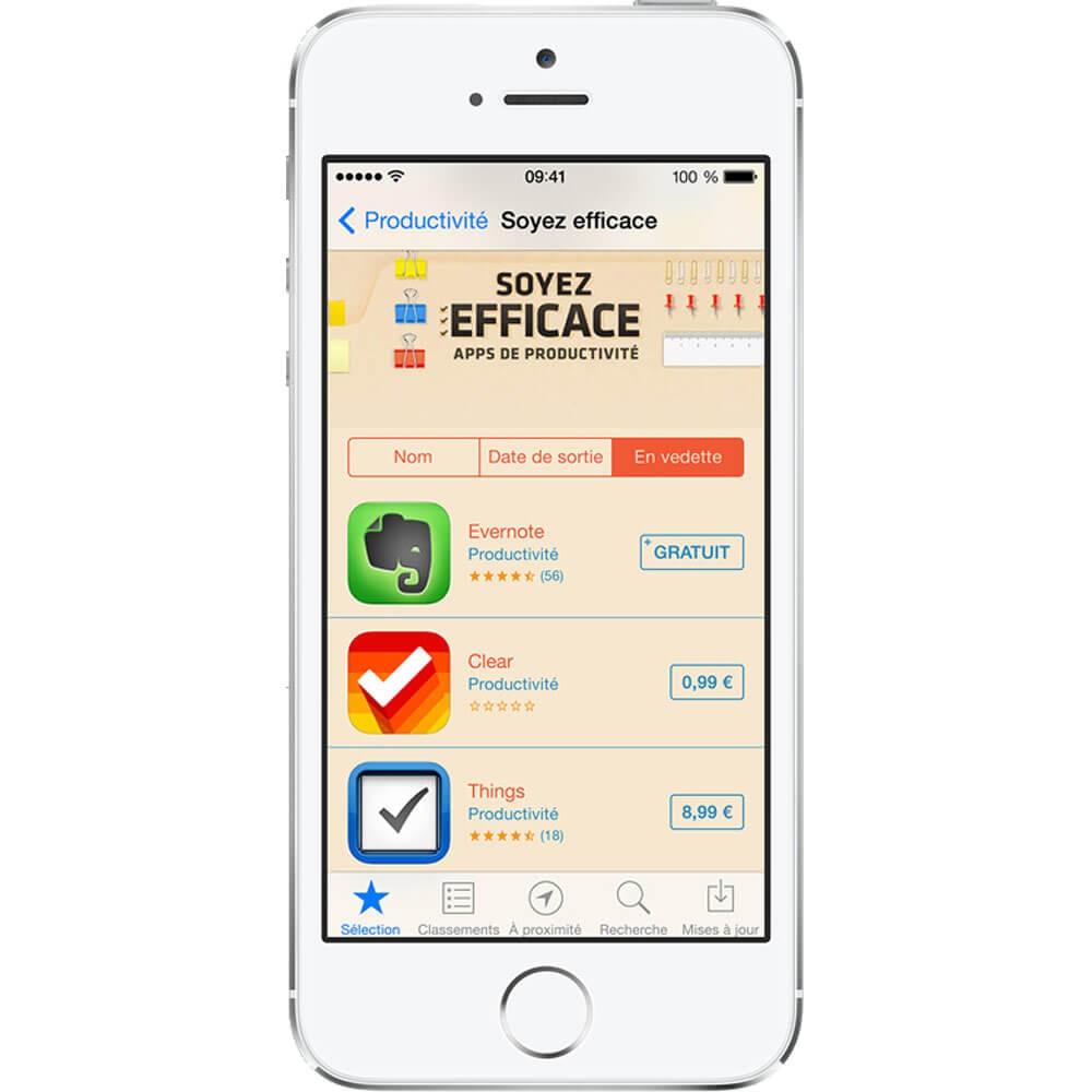 iPhone 5S 32Go Argent - reconditionné - face