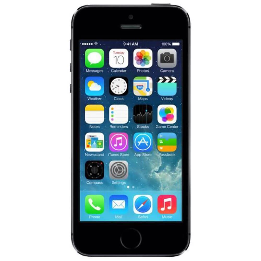 Apple iPhone 5S Gris 64G reconditionné - Face