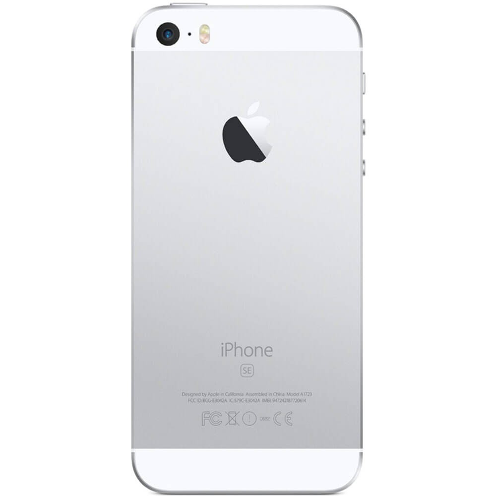 Apple iPhone SE 32Go Argent - dos