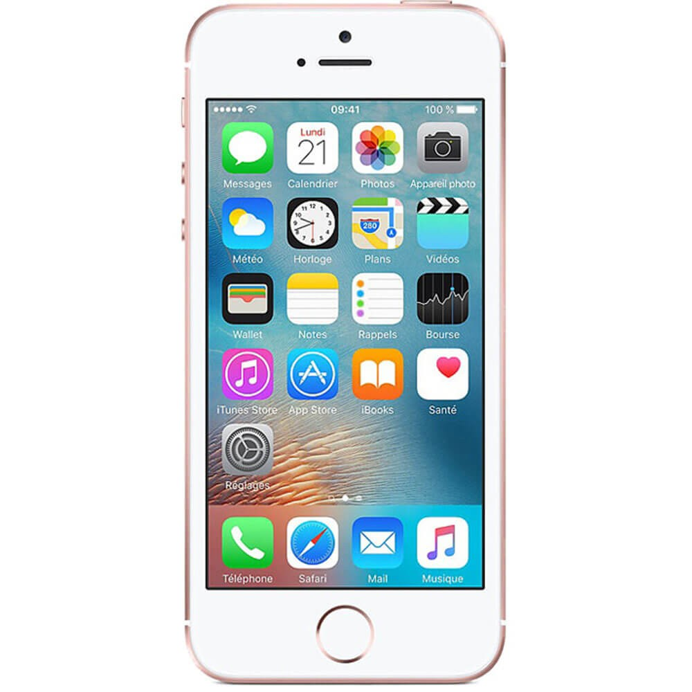 Apple iPhone SE 32Go Rose - face