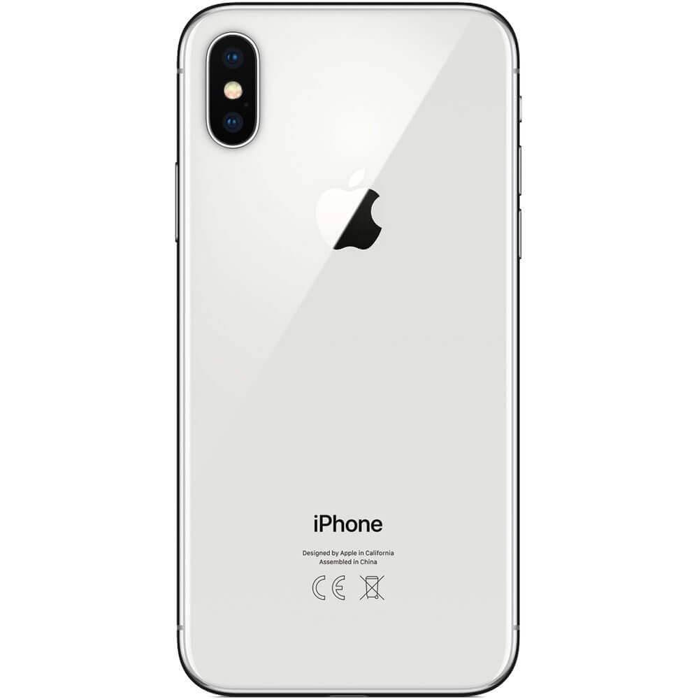Apple iPhone X 64Go Argent - Dos