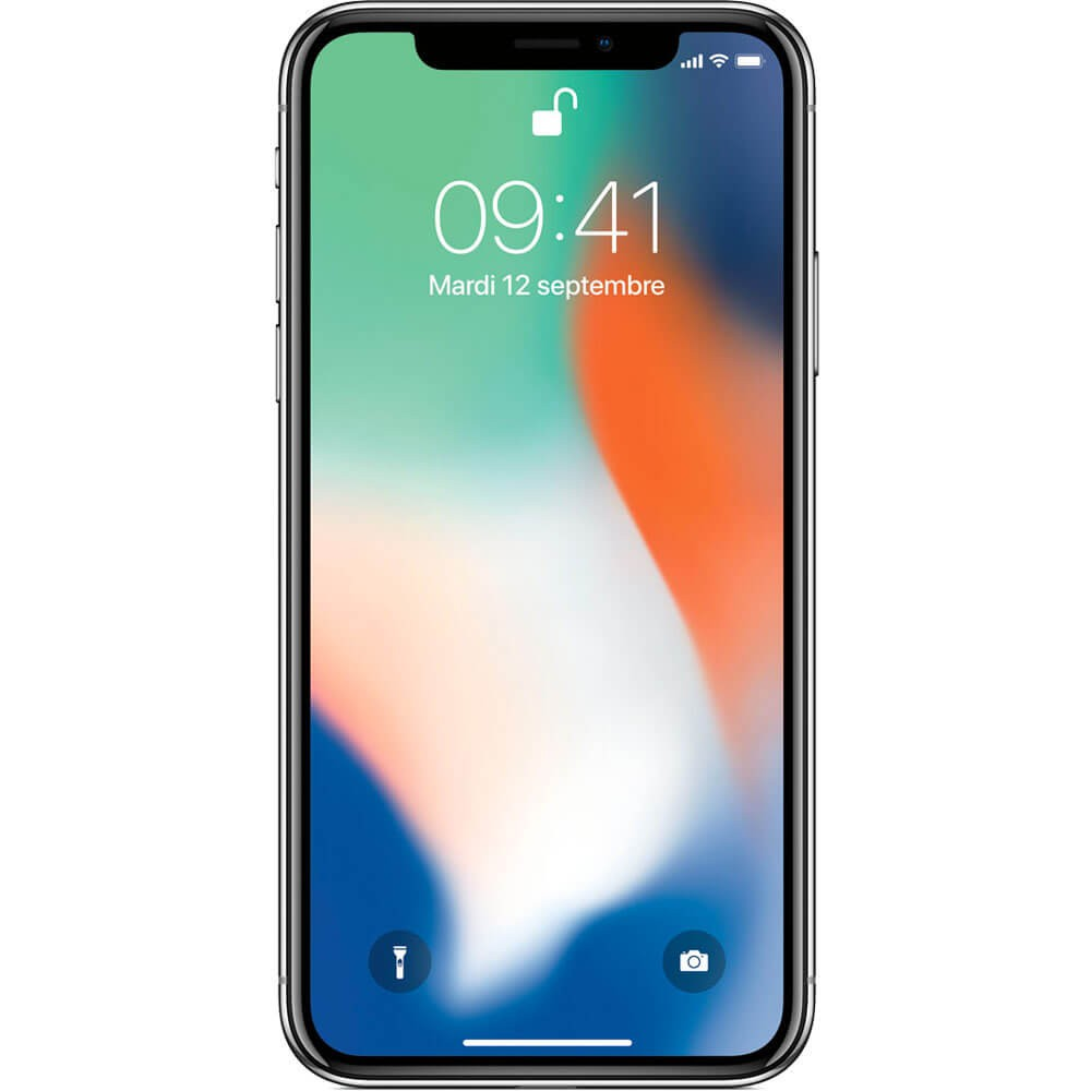 Apple iPhone X 64Go Argent - Face