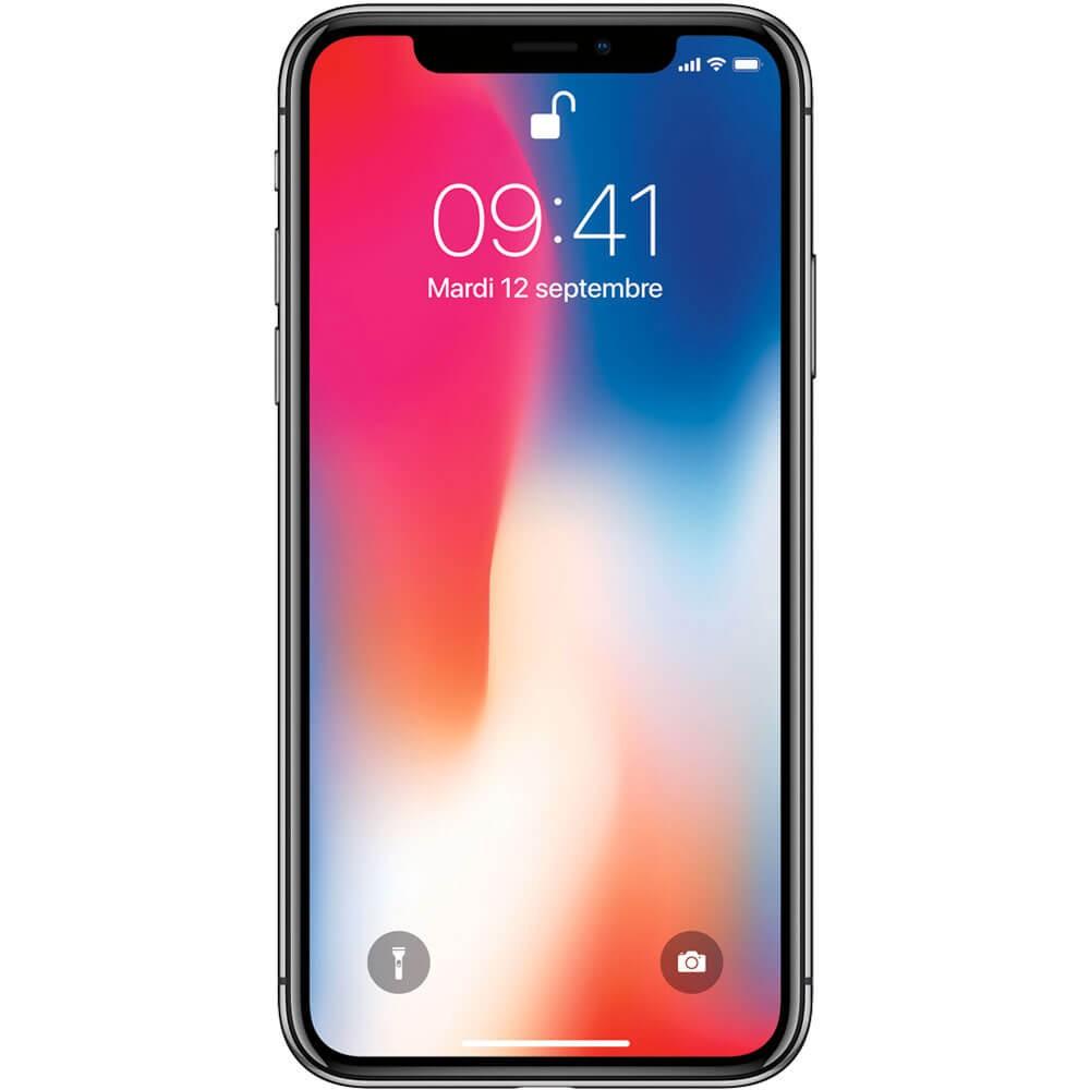 Apple iPhone X 64Go Gris Sidéral - Face