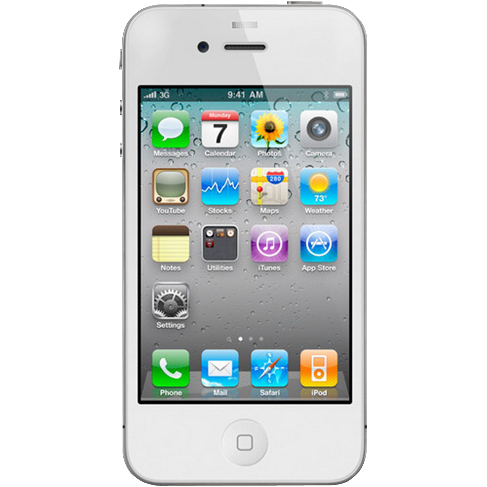 Apple iPhone 4S Blanc 16Go reconditionne - Face