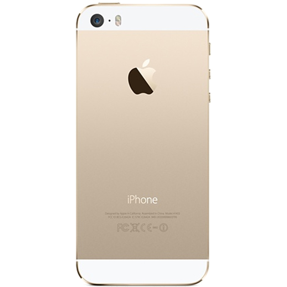 Apple iPhone 5S 16Go Or - reconditionné - dos