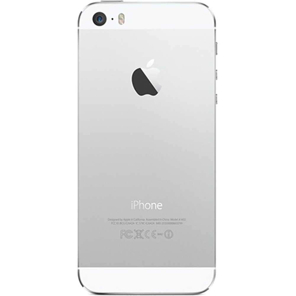 Apple iPhone 5S Argent 16Go reconditionné - Dos