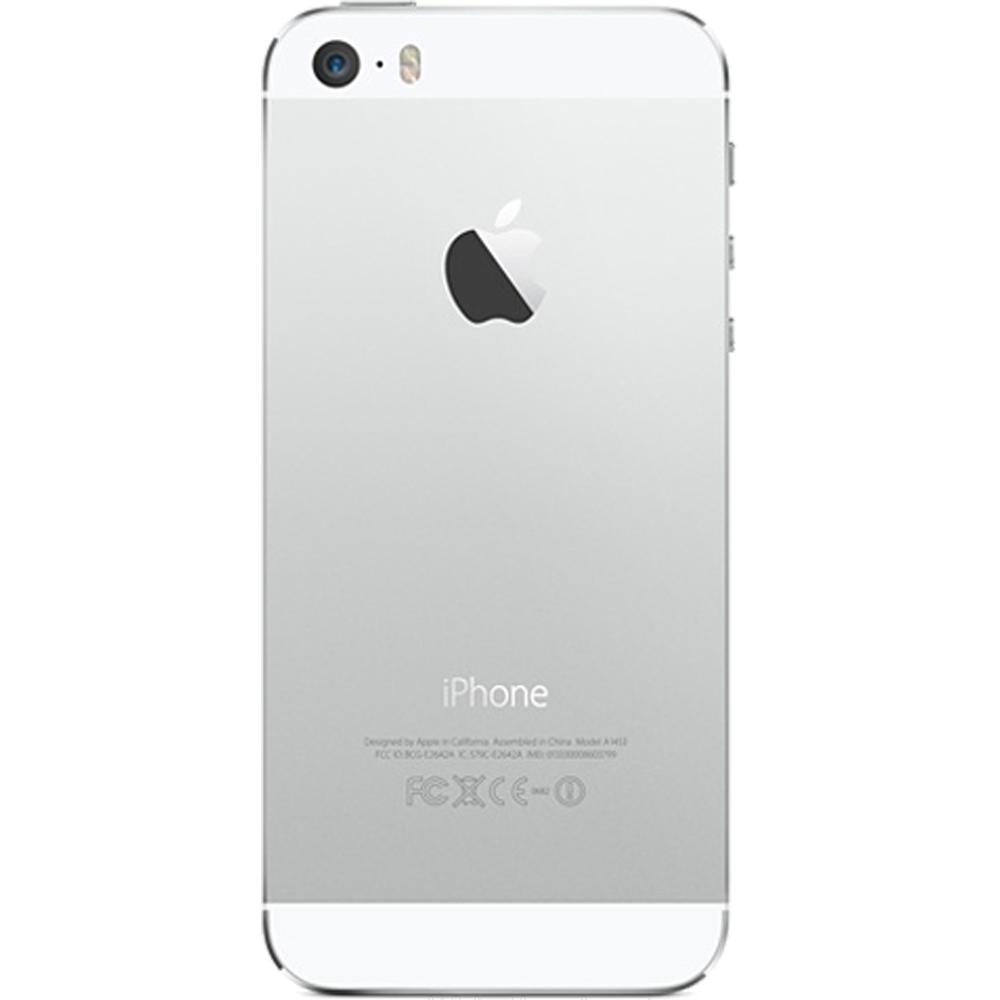iPhone 5S 32Go Argent - reconditionné - dos