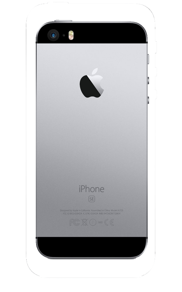 Apple iPhone SE 32Go Gris - dos