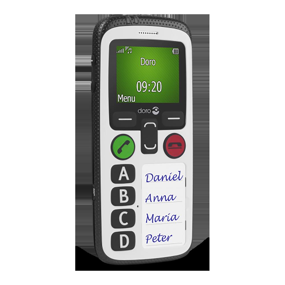 Doro secure 580 noir et blanc - Profil