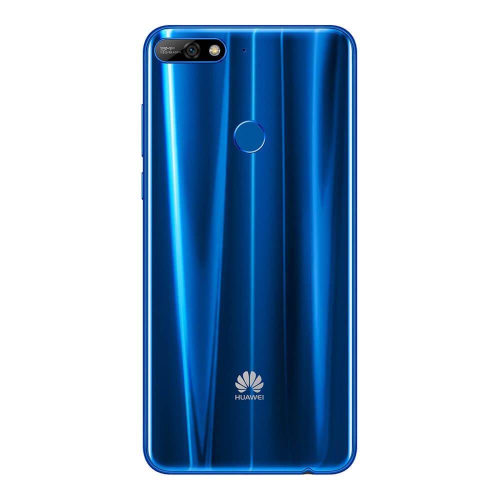 Huawei Y7 2018 Bleu dos
