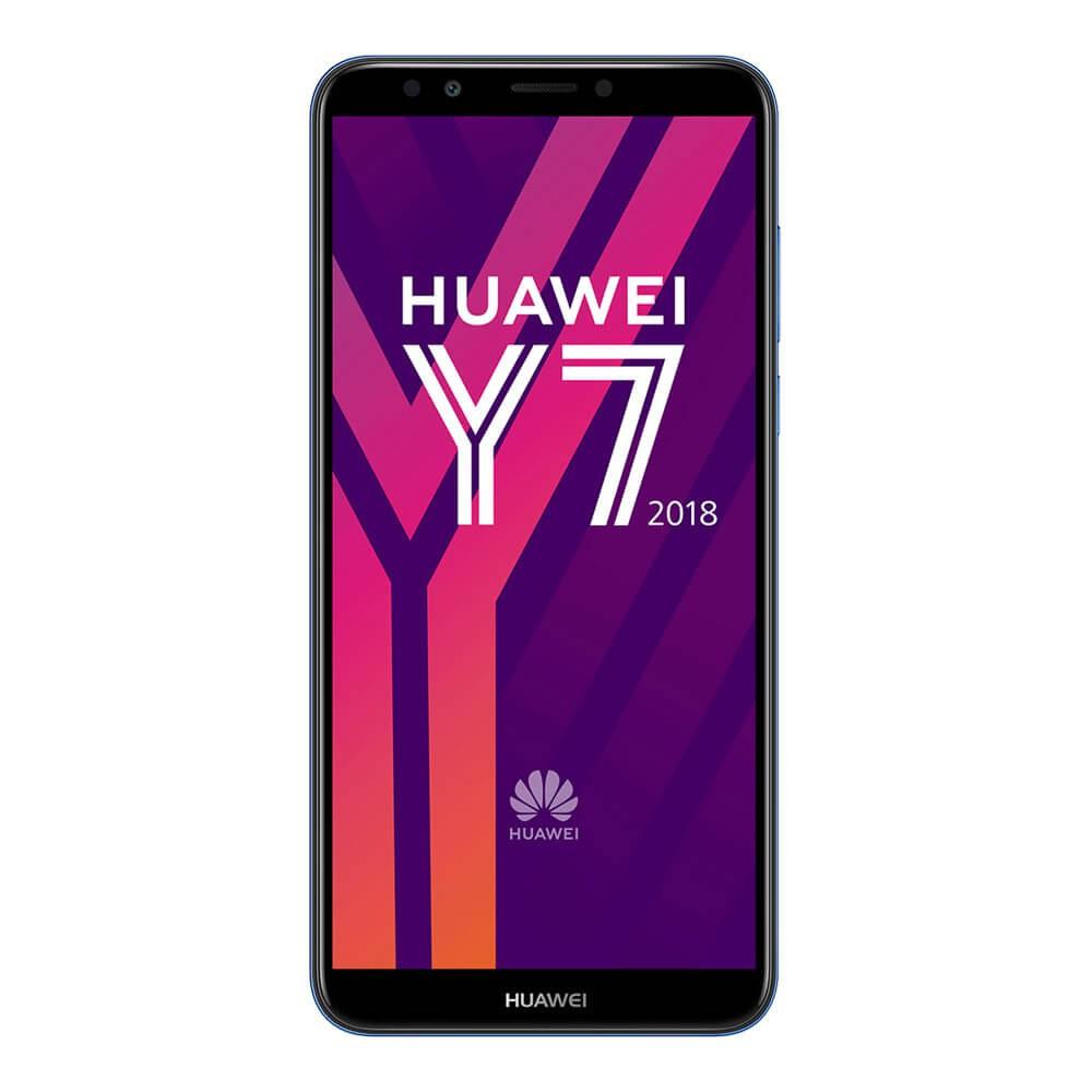 Huawei Y7 2018 Bleu face
