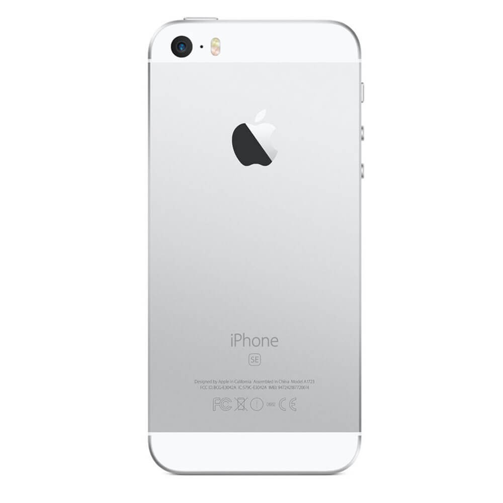 Apple iPhone SE 128 Go Argent - dos