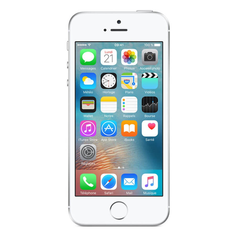 Apple iPhone SE 128 Go Argent - face