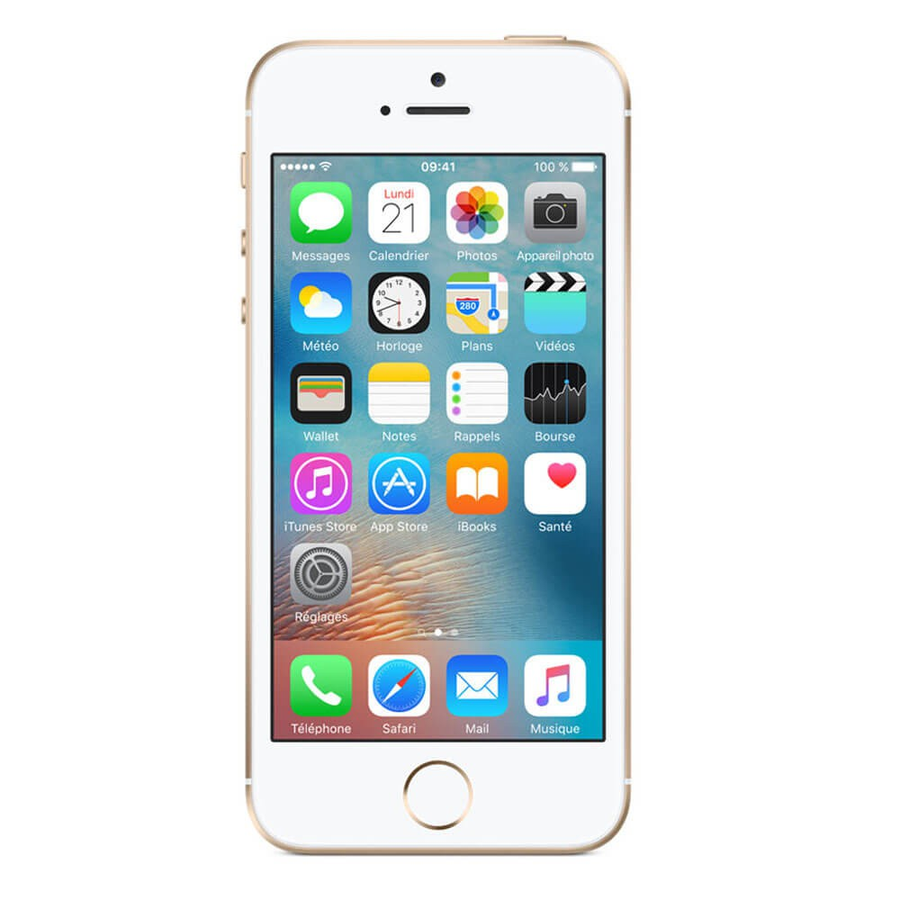 Apple iPhone SE 128 Go Or - face