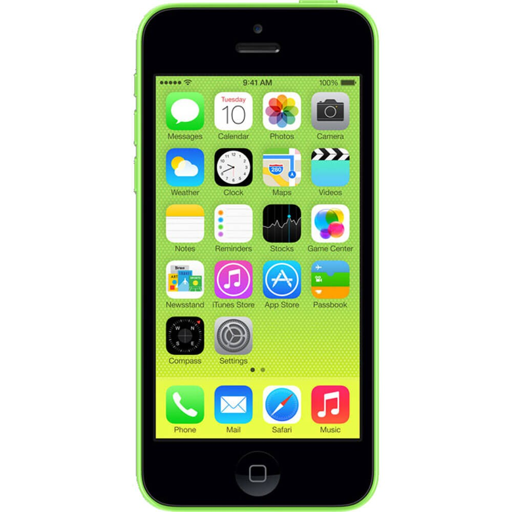 Apple iPhone 5C Vert 16Go reconditionné - Face