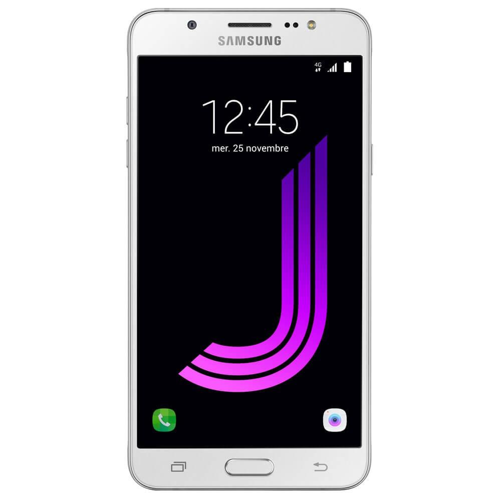 Samsung Galaxy J7 2016 Blanc - Face