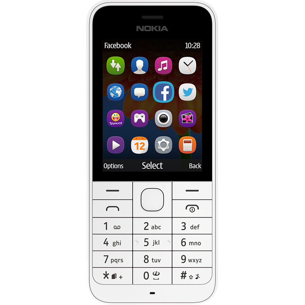 Nokia 220 DS Blanc - Face