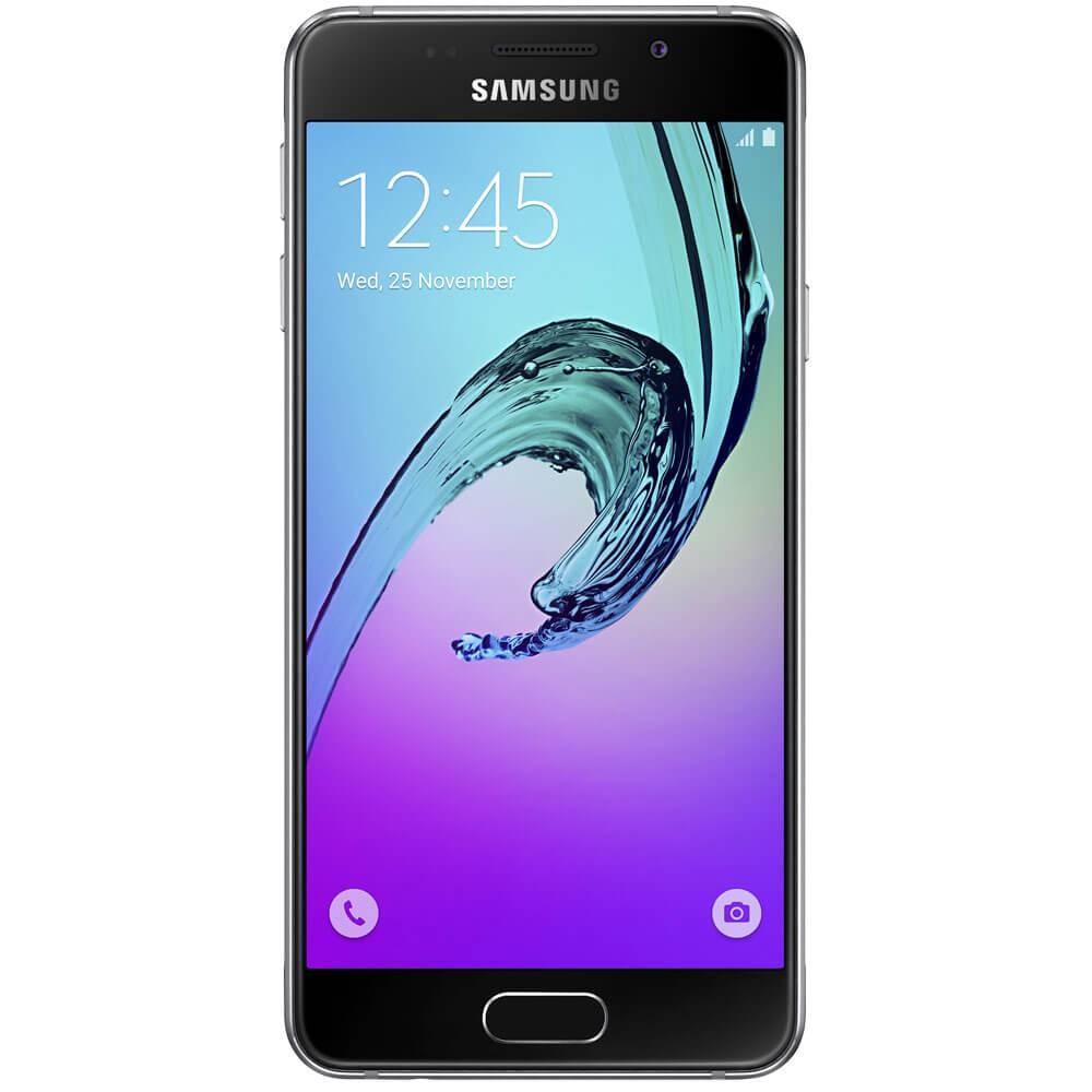 Samsung Galaxy A3 2016 Noir - Face