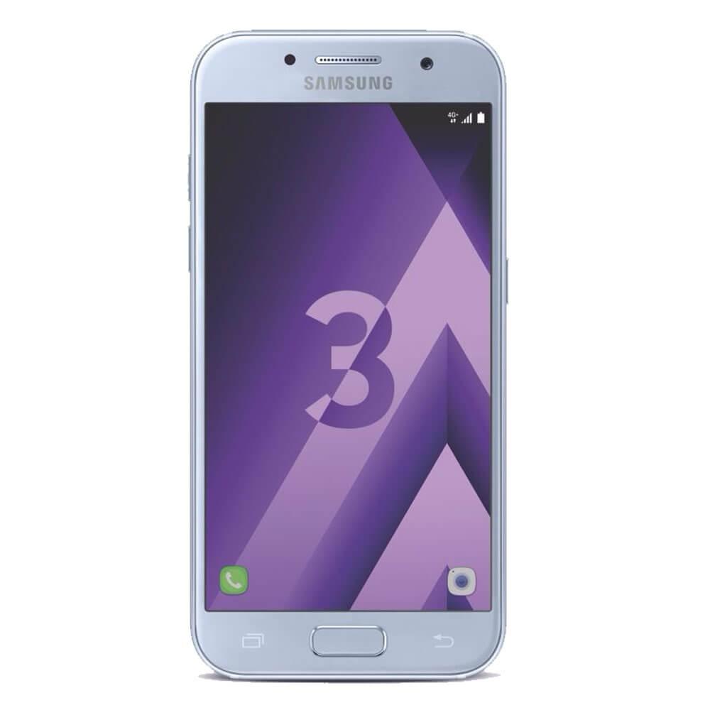 Samsung Galaxy A3 2017 Bleu - Face