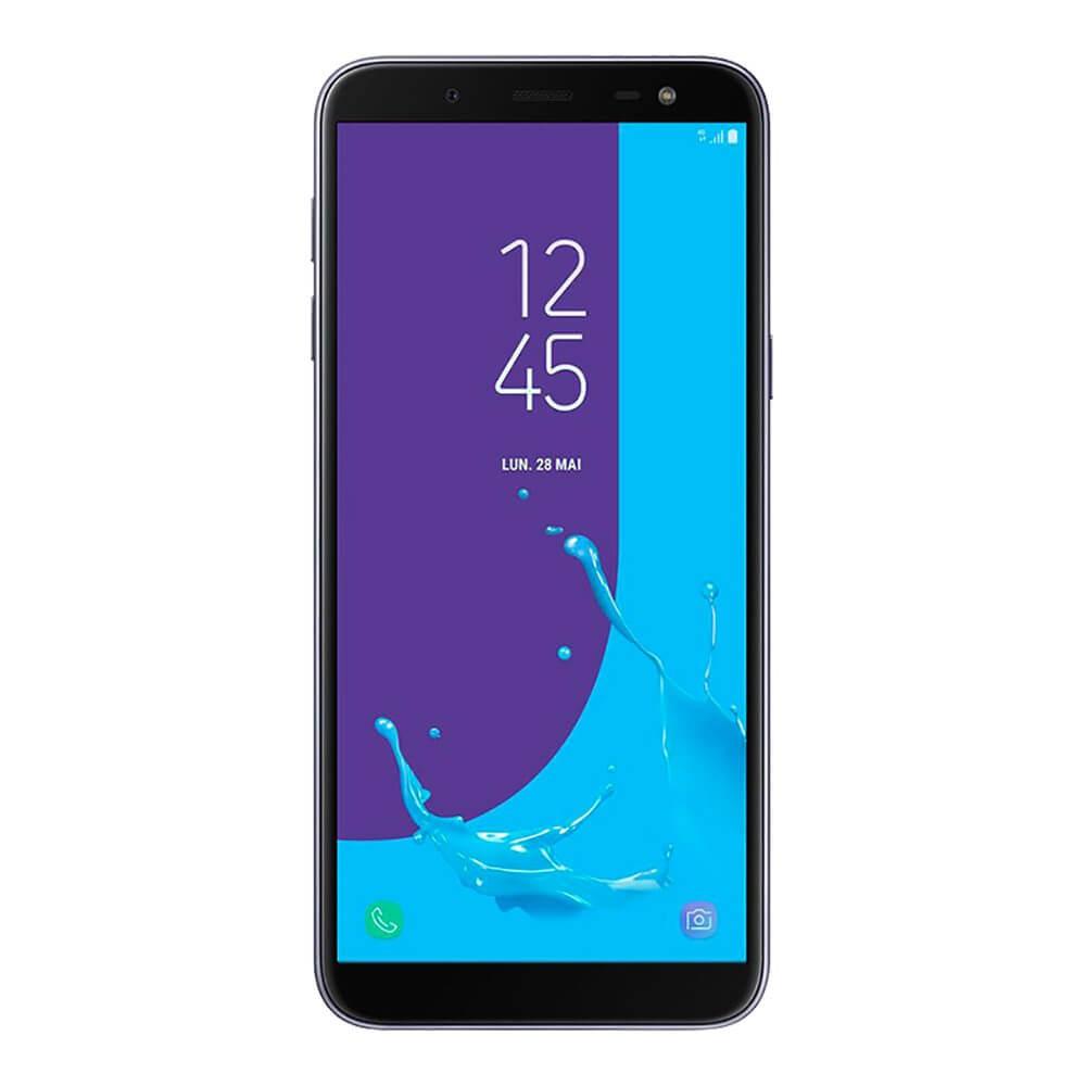 Samsung Galaxy J6 2018 Bleu Argenté - face