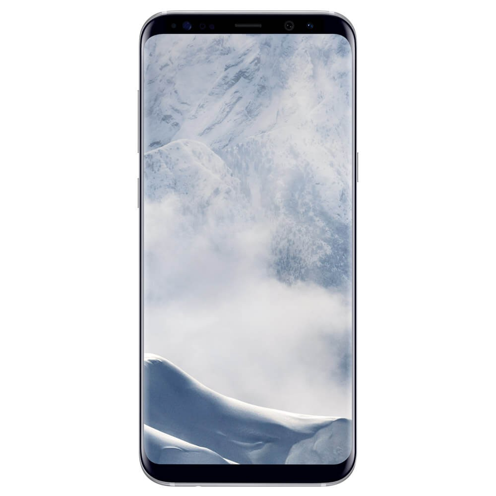 Samsung Galaxy S8+ Argent - face
