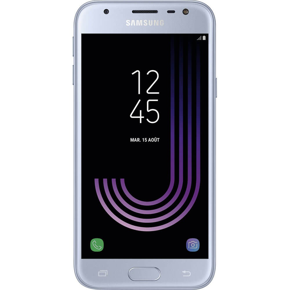 Samsung Galaxy J3 2017 Argent - face