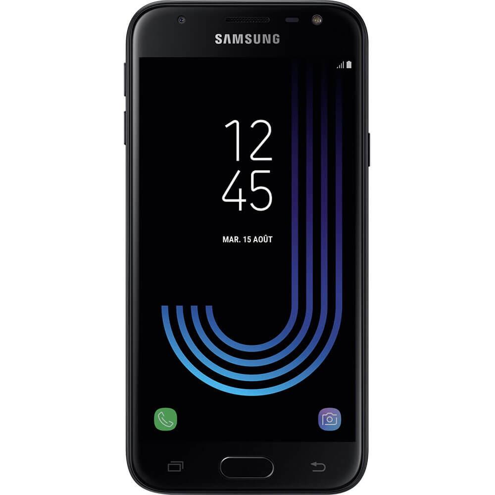 Samsung Galaxy J3 2017 Noir - face