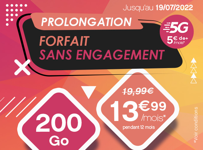 Forfait 5G 250 Go